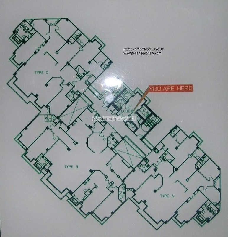 The Regency Condo floor plan layout